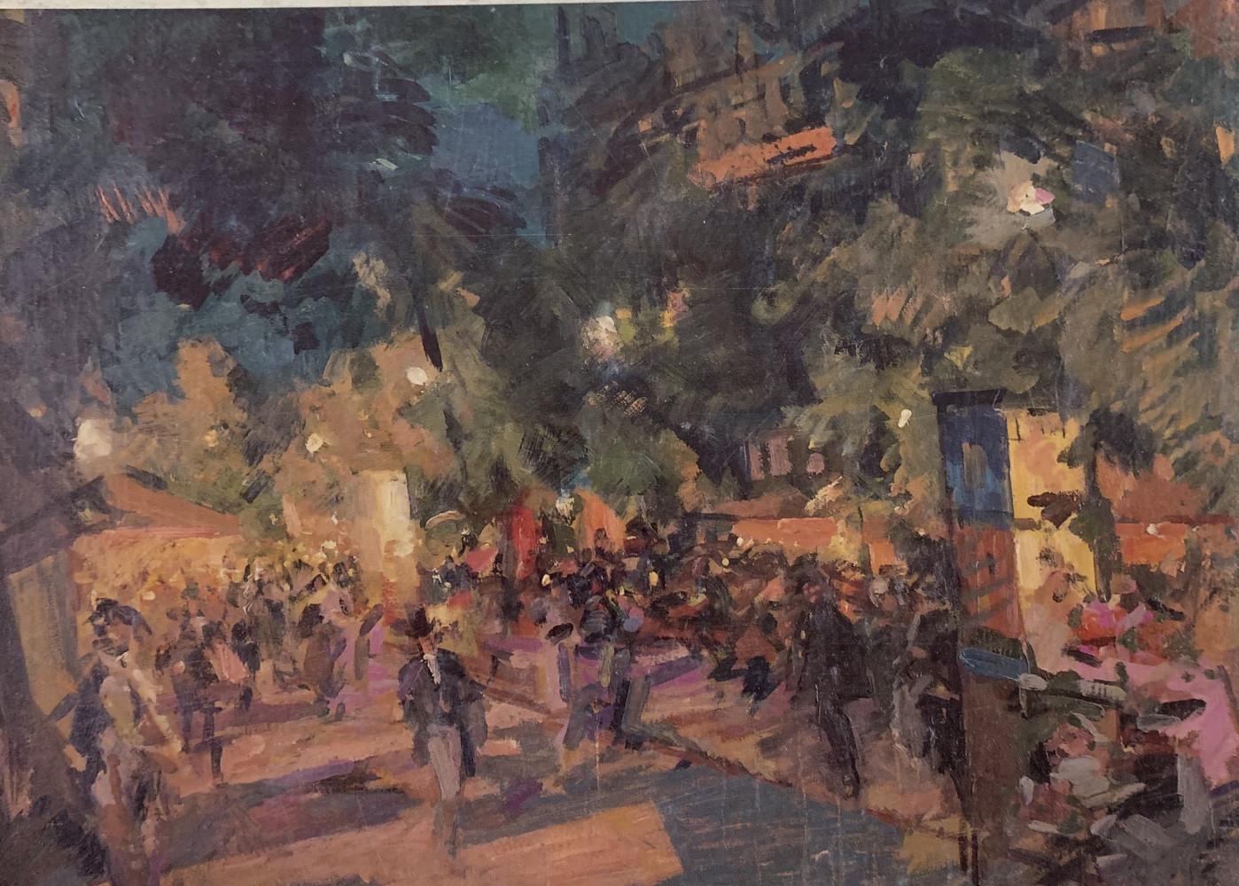 Boulevard des Italians by Konstantin Alekseyevich Korovin