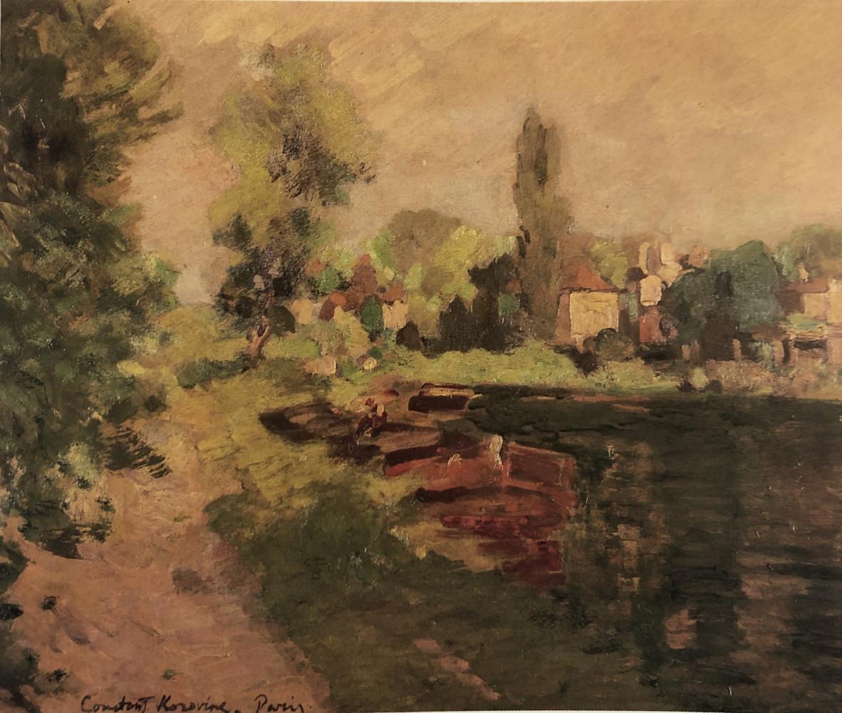 La Barge by Konstantin Alekseyevich Korovin