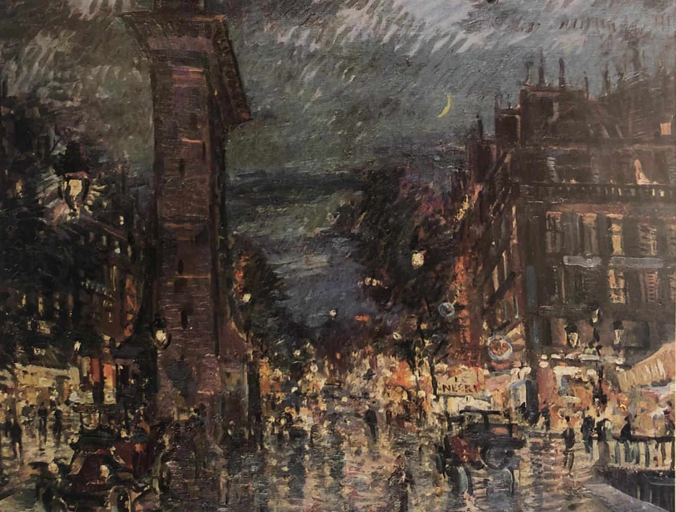 Paris, Les Grande Boulevards by Konstantin Alekseyevich Korovin