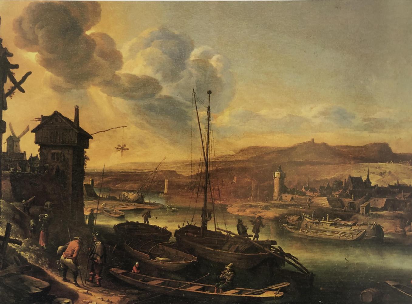 Rhine Landscape by Herman Saftleven