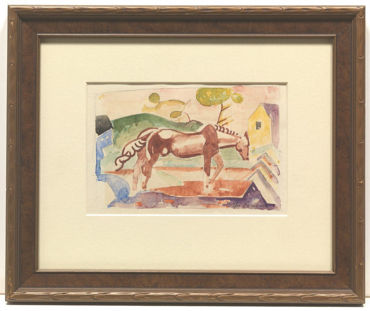 Horse in a Field by William Sommer