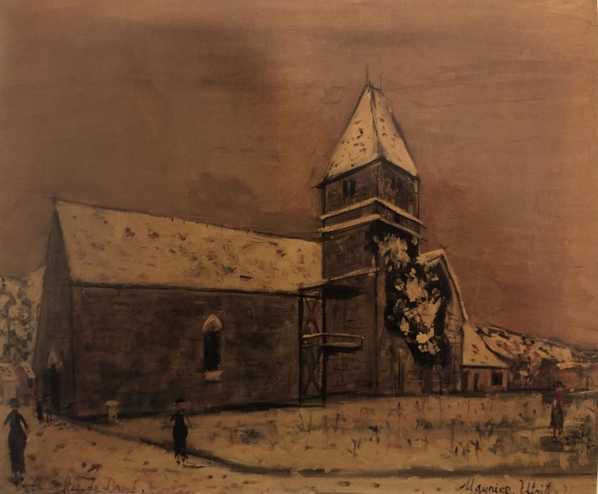 L'Eglise de Droué by Maurice (Valadon) Utrillo