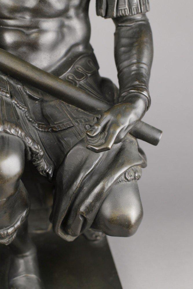 French or Italian Bronze figure of Giuliano de Medici after Michelangelo