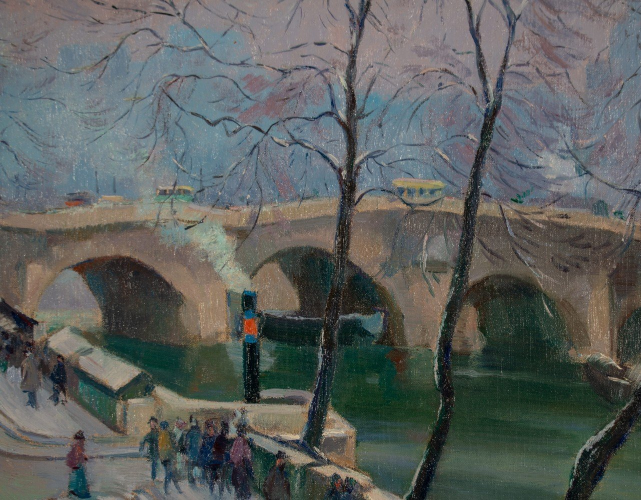 Bookstalls along the Seine by Abel G. Warshawsky