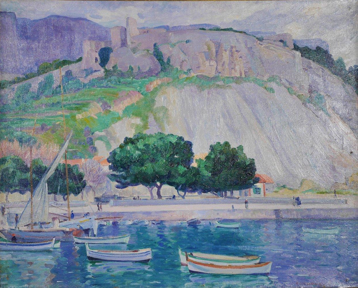 Cliff Rocks, Antibe, France by Abel G. Warshawsky