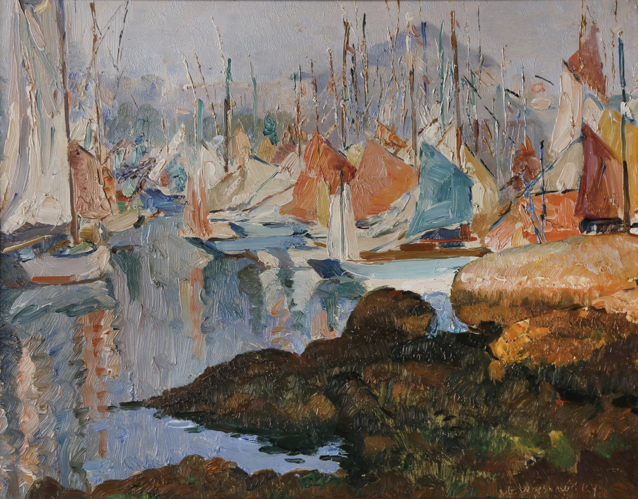Harbor Scene by Abel G. Warshawsky
