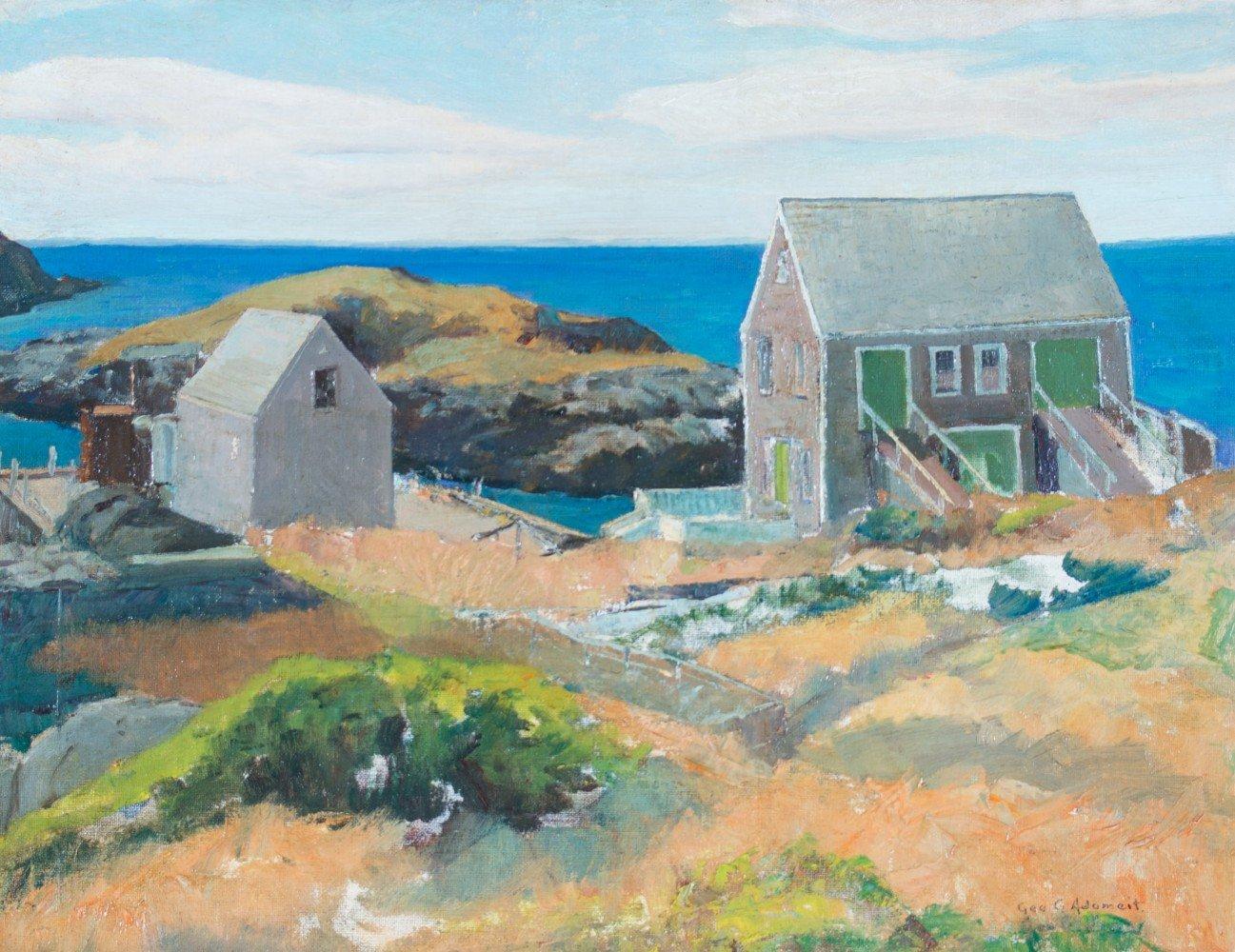 Monhegan Island, Maine by George Gustav Adomeit