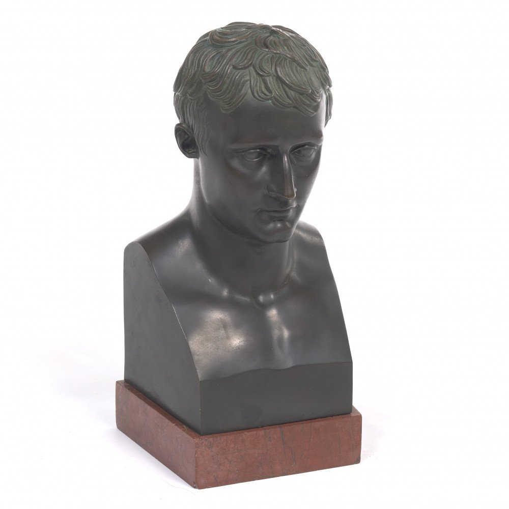 Bust of Young Napoleon as Caesar by After Antonio Canova