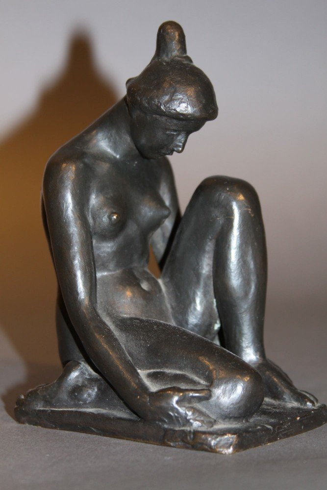 Nu au chignon by After Aristide Maillol
