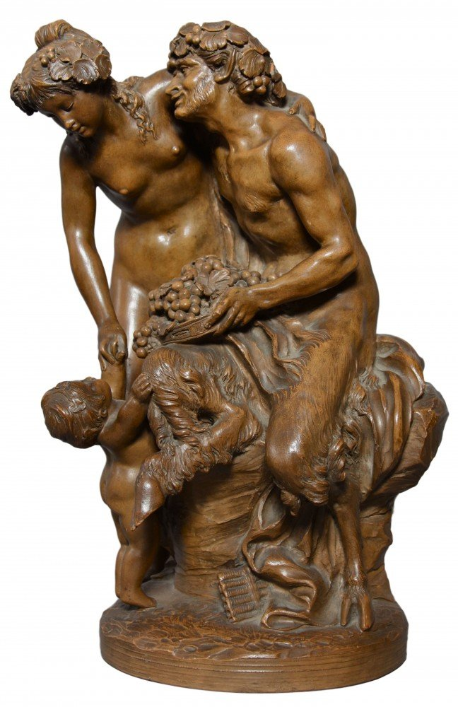 Faun and Bacchante by After Claude Michel (Clodion)
