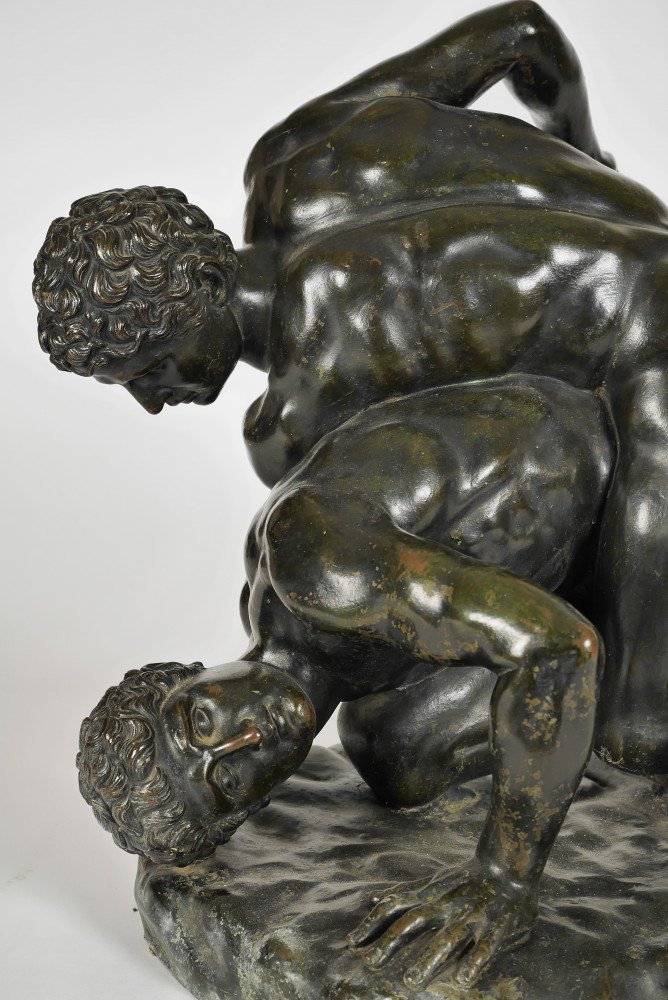Grand Tour Bronze of the Uffizi Wrestlers by After Lysippos