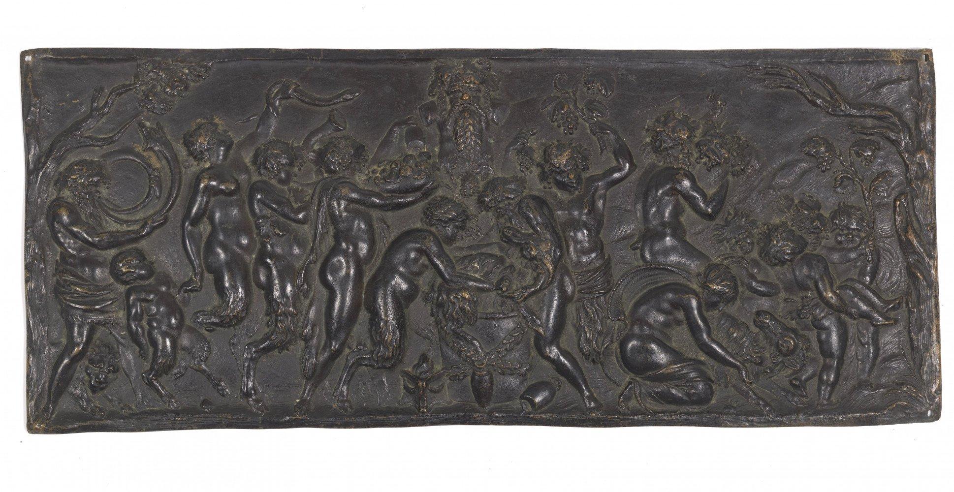 Relief of a Bacchanalian scene  by Claude Michel (Clodion)