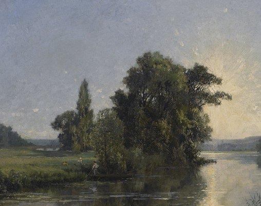Picnic Along the Riverbank by Alexandre Rene Veron
