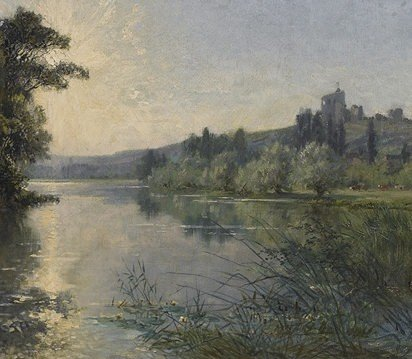 Alexandre Rene Veron-Picnic Along the Riverbank ...
