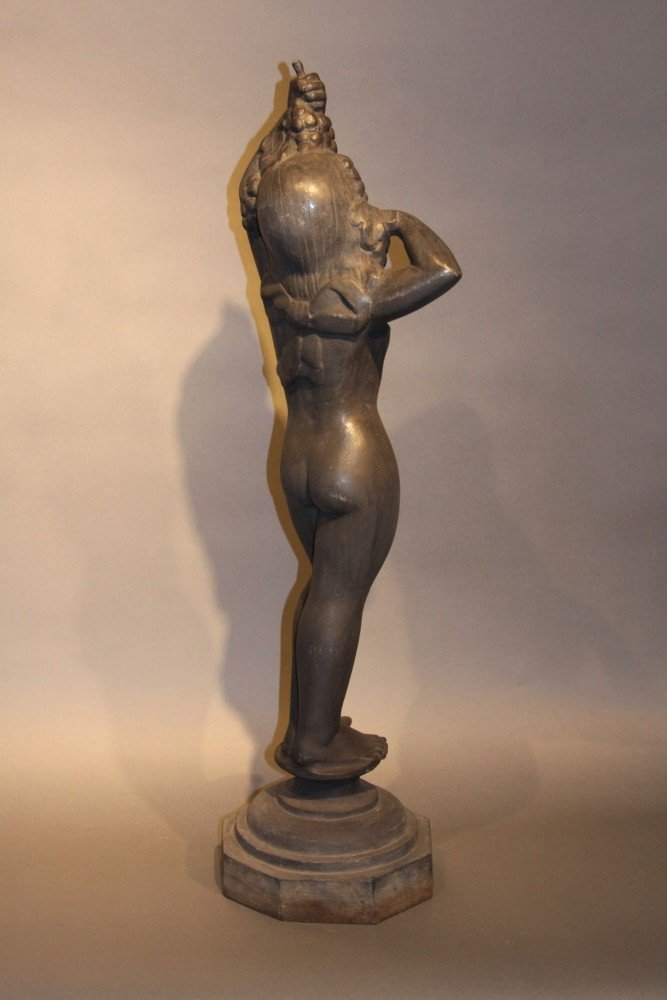 Cast Iron Figure of Bacchic Maiden