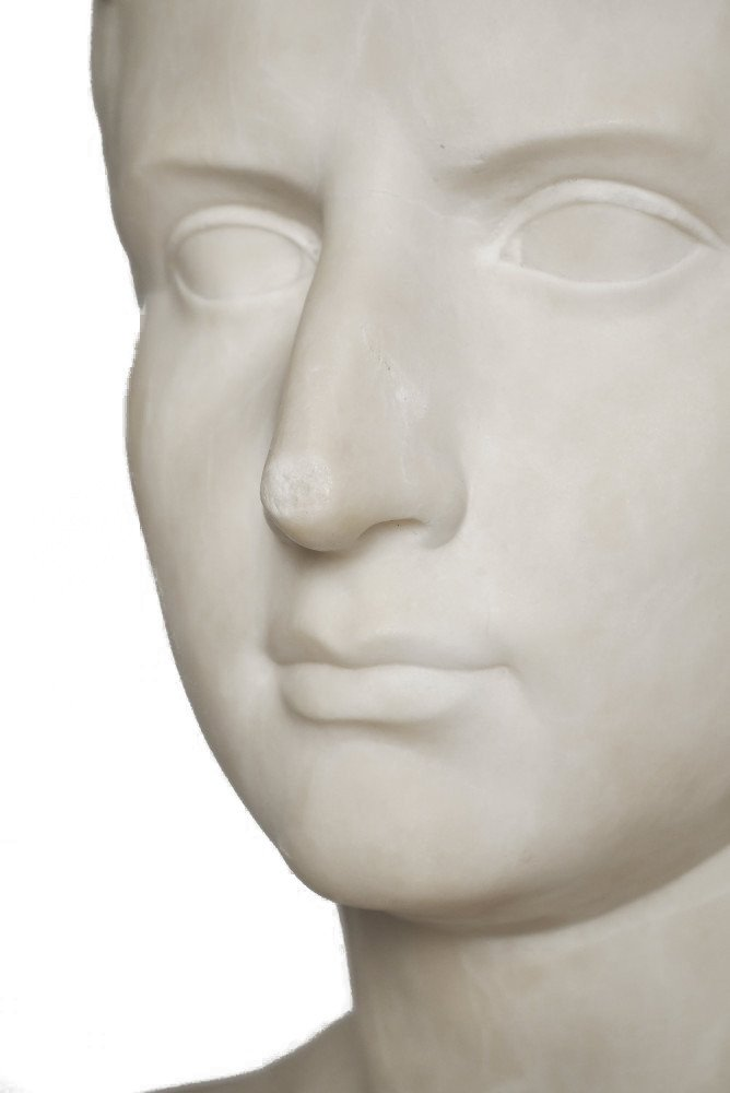 Grand Tour Bust of Young Octavian by After Antonio Canova