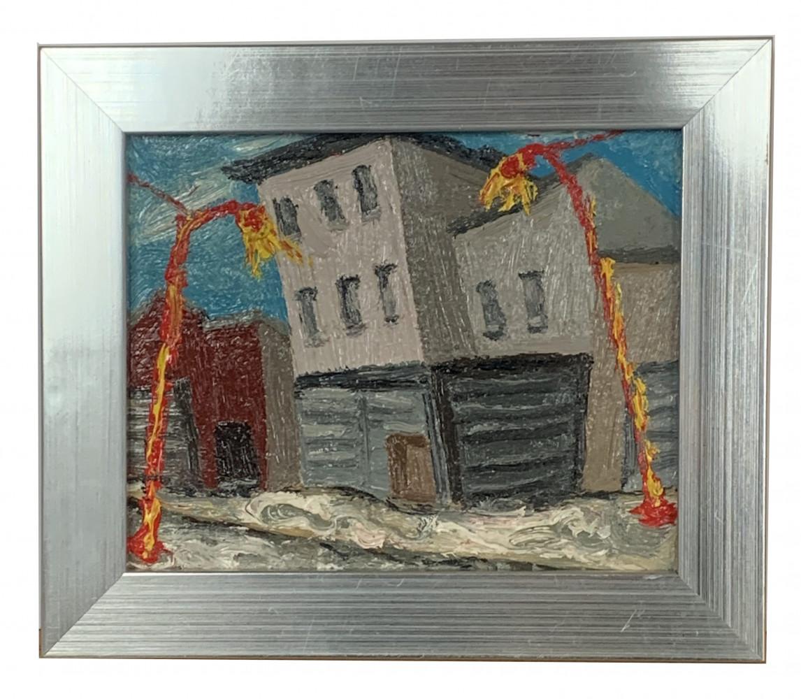Impressionist Brooklyn Streetscape (7) $300 by Arnold Sharrad