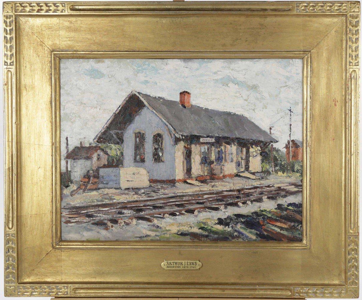 Nickel Plate Railroad Station, Avon Ohio by Arthur J. Laws