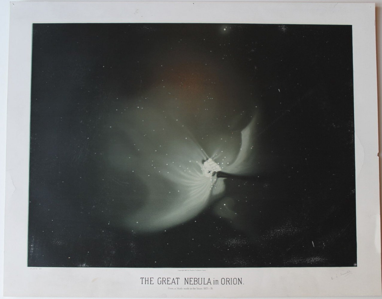 A Rare Complete Set of Trouvelot Astronomical Drawings by Etienne Leopold Trouvelot