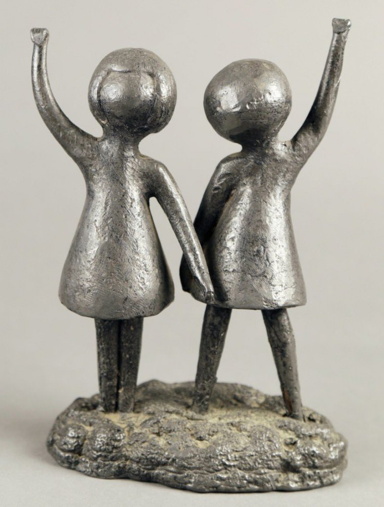 Two Girls by 20thc. French School