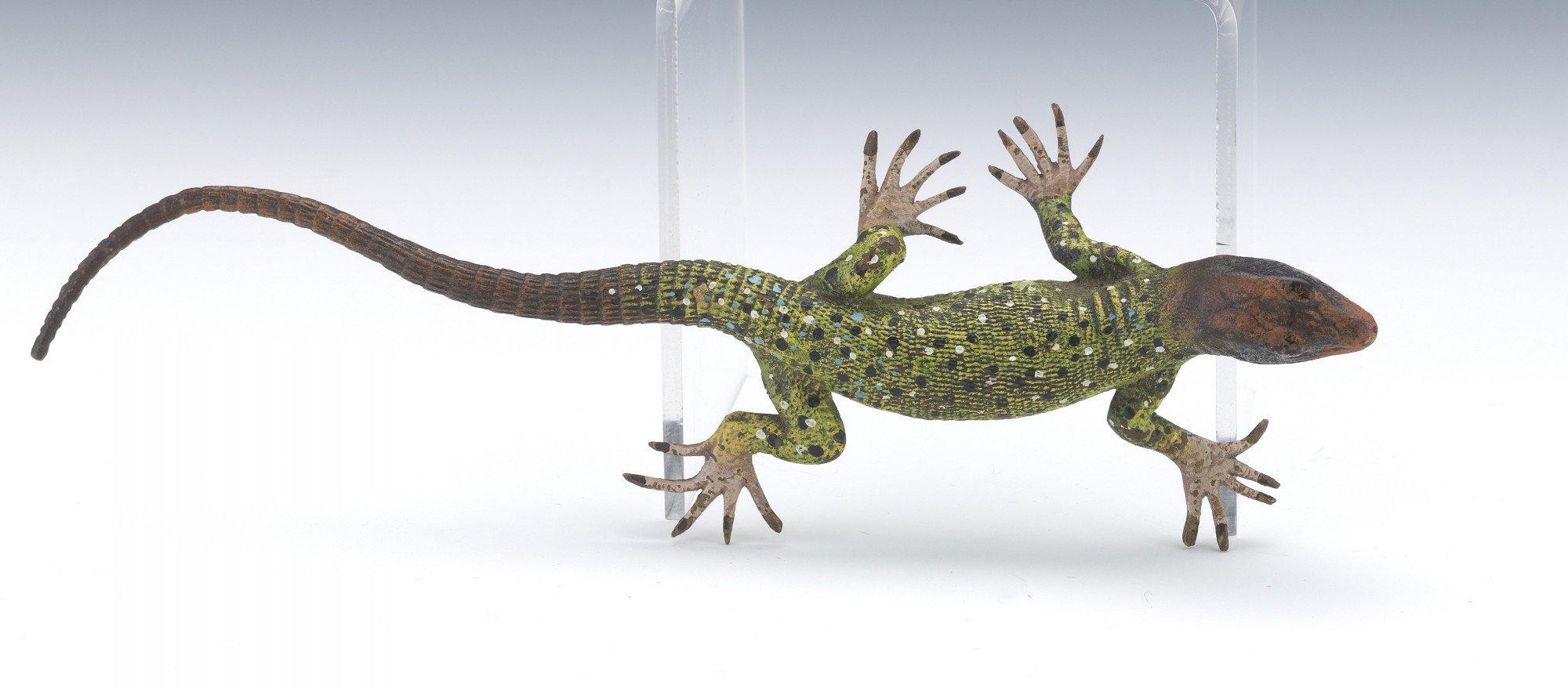 Austrian Cold Painted Bronze Lizard