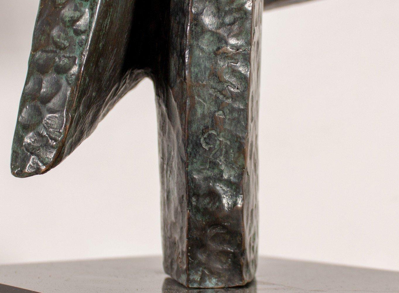 Abstract Bronze Sculpture: