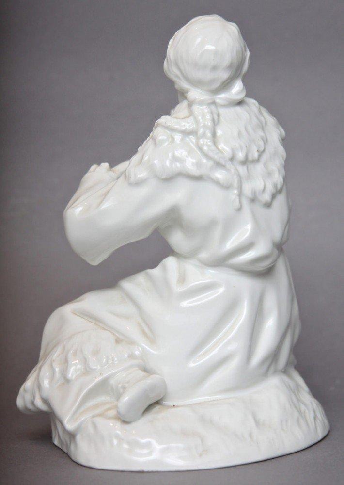 A Berlin Blanc de Chine Glazed Figure of Pocahontas