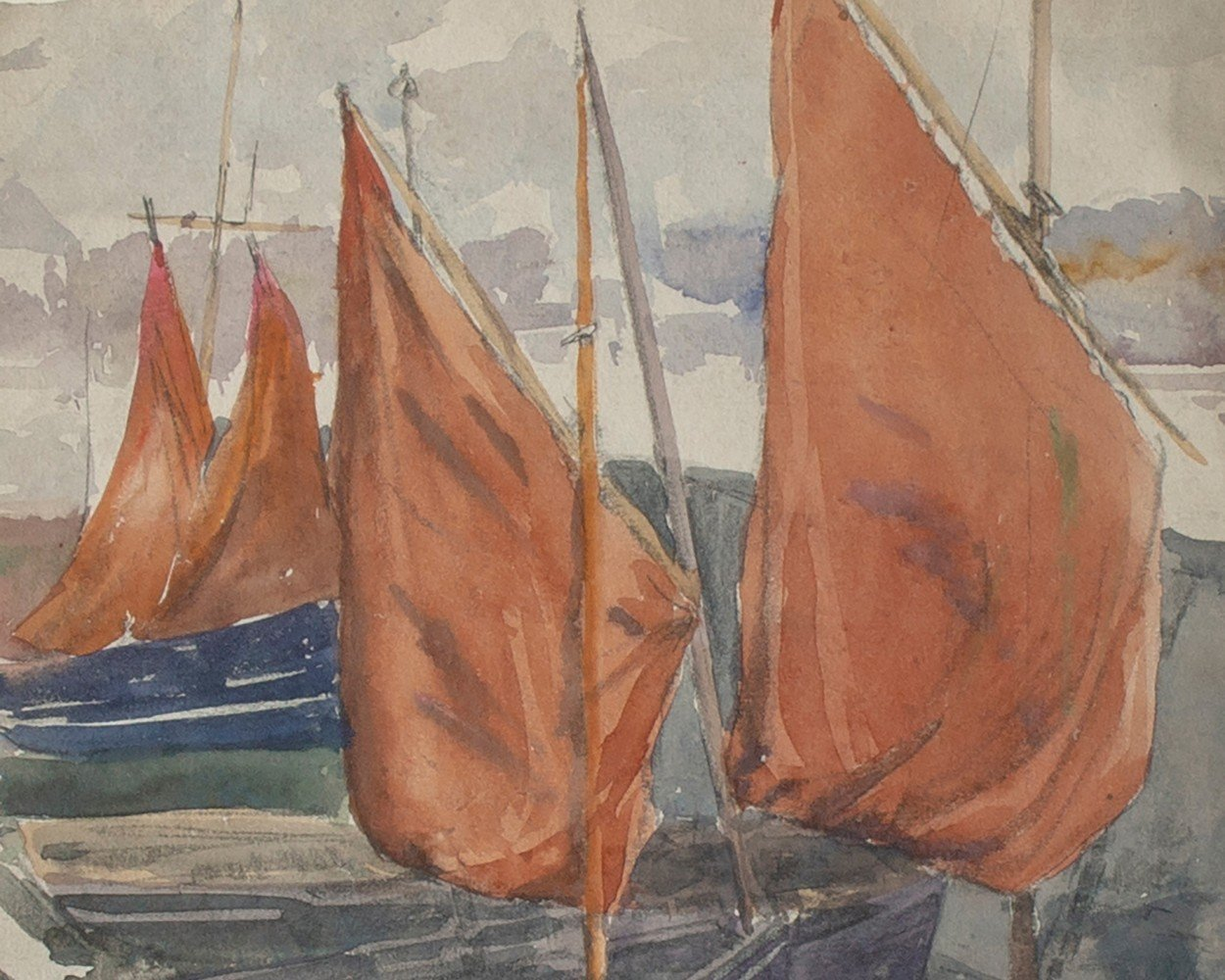 Boats at Concarneau, France by Frank Nelson Wilcox
