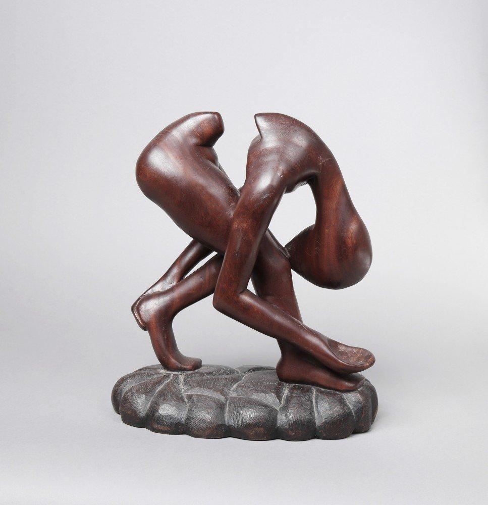 Figurative Wood Sculpture: