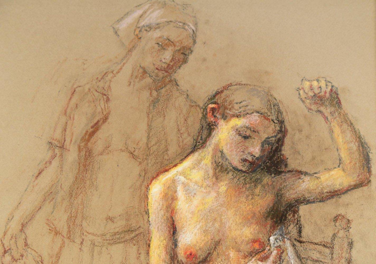 Two Women by Robert Brackman