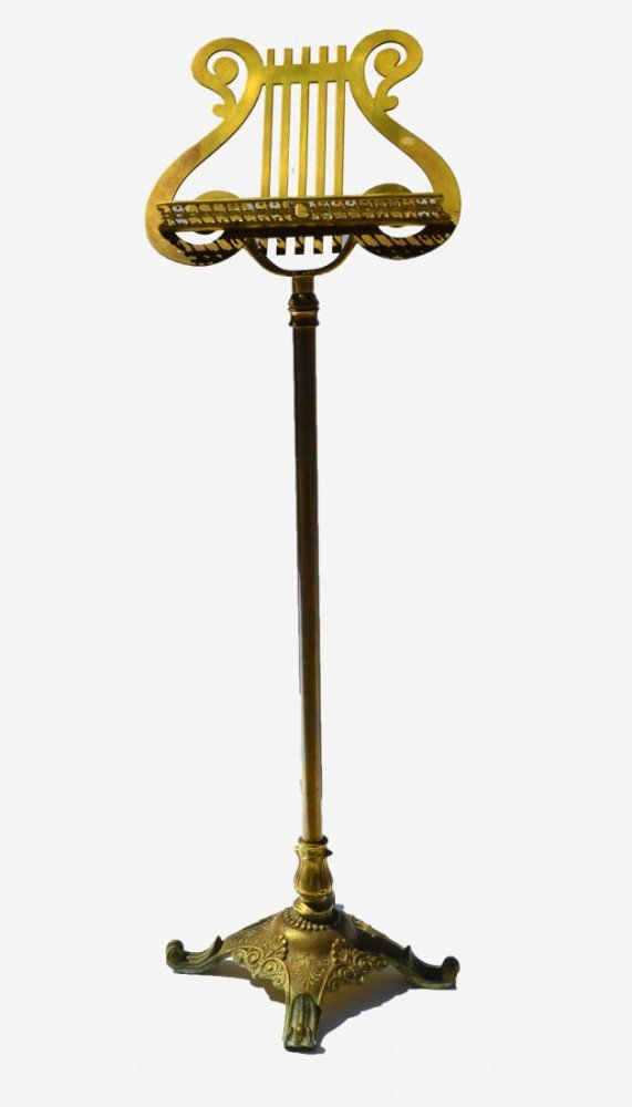A Brass Music Stand, American, c.1900