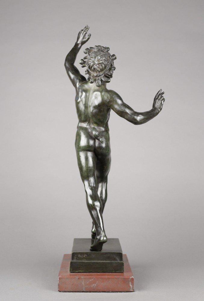 Grand Tour Bronze of The Dancing Faun by 19th Century Italian School