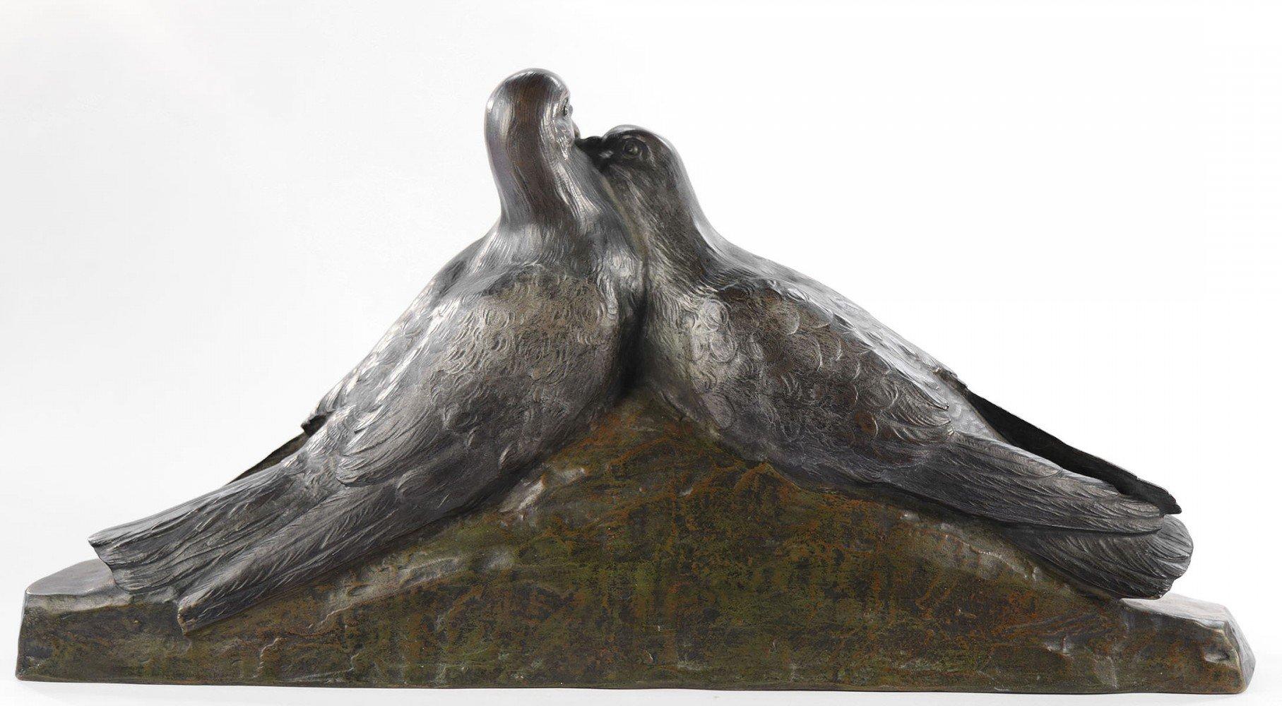 Pair of Lovebirds by Giuseppe D'Aste