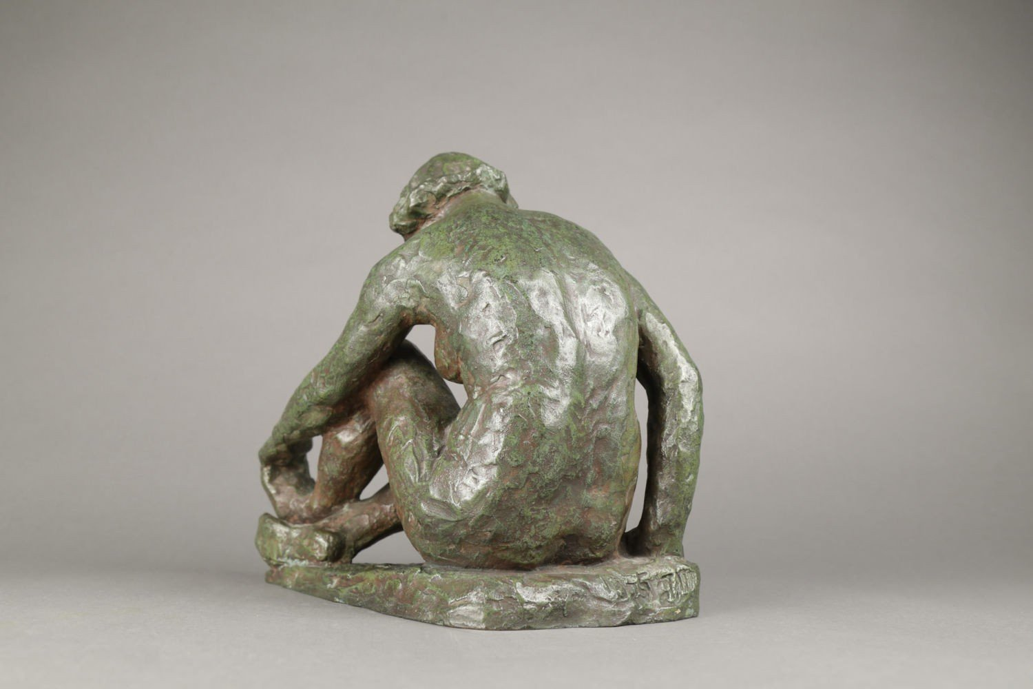 Seated Nude Dancer, Holding her Foot by 20thc. School