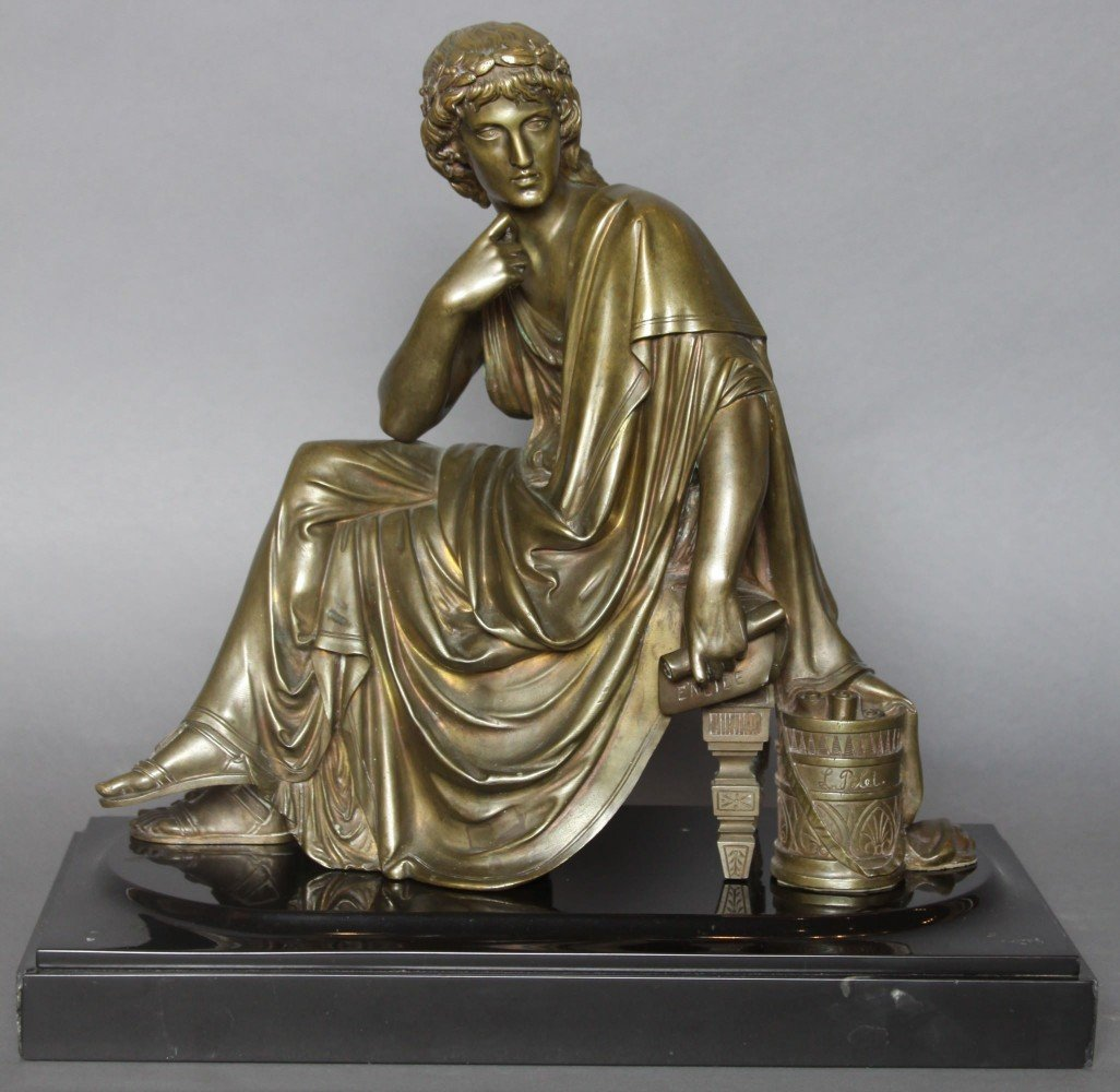 A Bronze Figure of the Poet Virgil