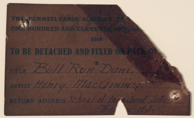 Bull Run Dam by Henry MacGinnis