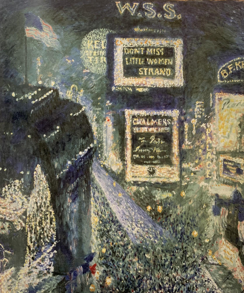 Times Square, Armistice Day, November 11 by Theodore Earl Butler