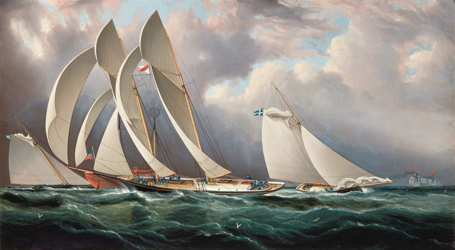 Yachting Race at New York Harbor by James Edward Buttersworth