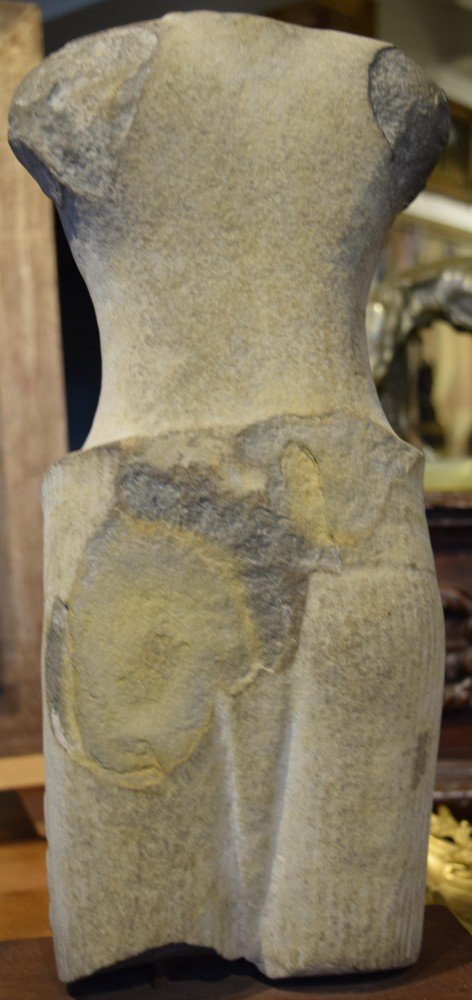 Cambodian Stone Torso, Khmer by Cambodian