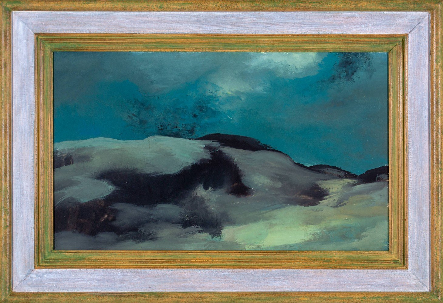 Landscape Oil on Board Painting: