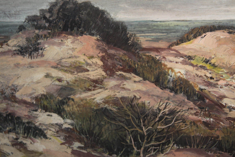 Landscape Gouache on Masonite Painting: