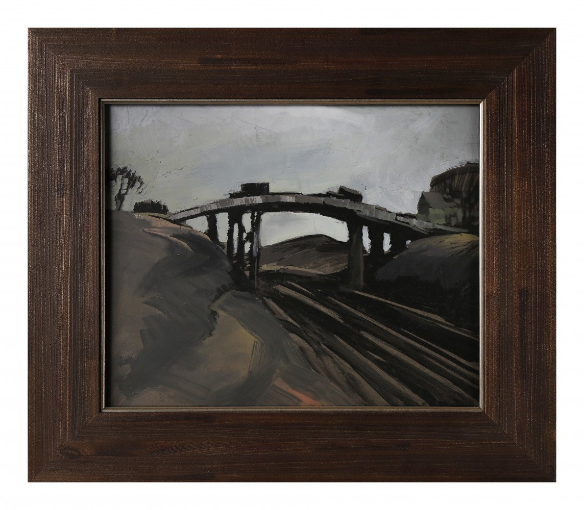 River Bridge by Carl Frederick Gaertner