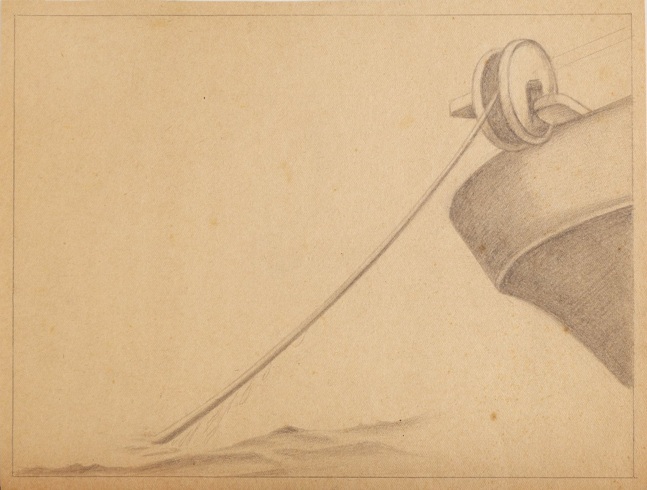 Graphite on Paper Drawing:
