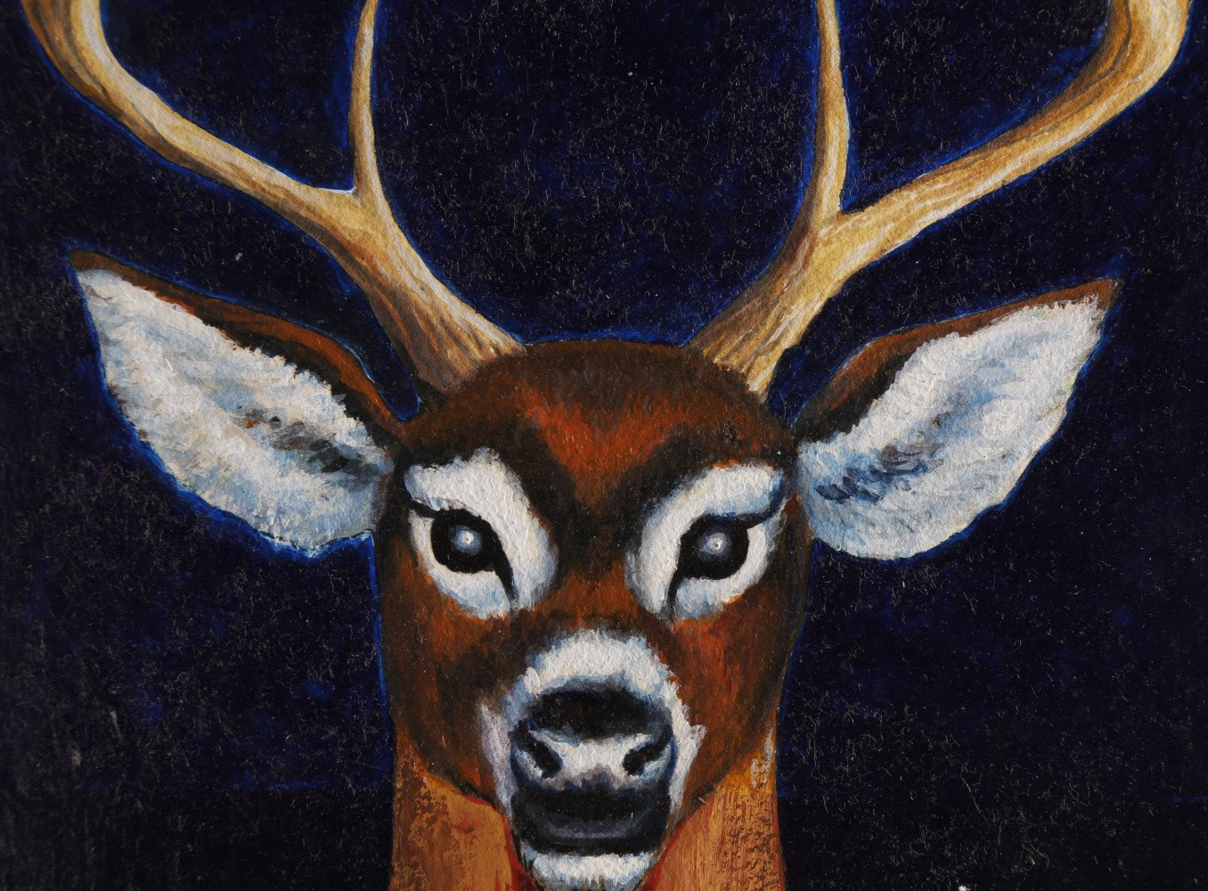 Animal Acrylic on Paper Drawing: