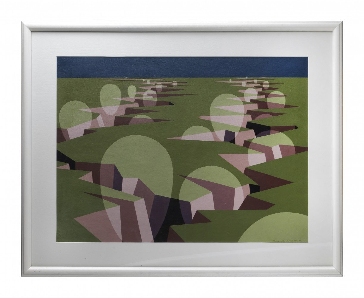 Abstract Landscape Acrylic on Texture Paper Painting: