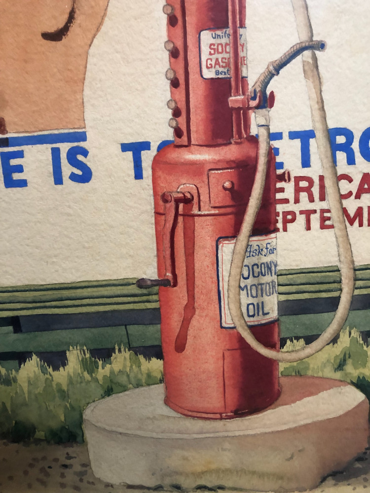 Gas is Cheap by Clarence Holbrook Carter