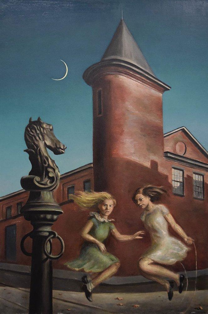 Landscape Oil on Canvas Painting: