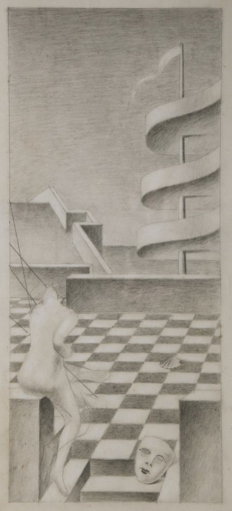 Abstract Landscape Graphite on Paper: