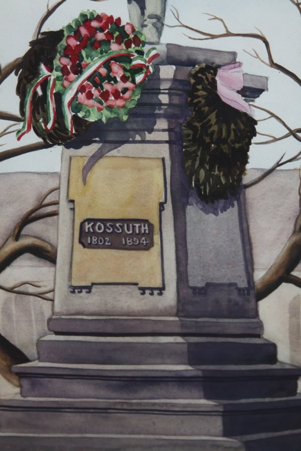 Monument to Kossuth by Clarence Holbrook Carter