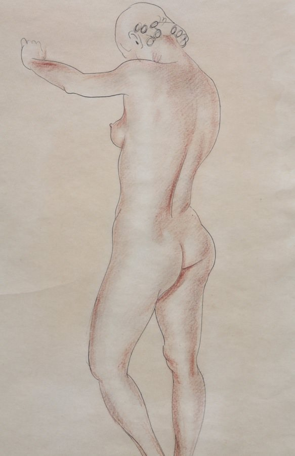 Nude Forward Thrust #76 by Clarence Holbrook Carter